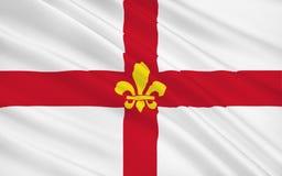 A bandeira de Lincoln é uma cidade da catedral e a cidade de condado de Linco imagem de stock