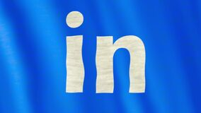 Bandeira de Linkedin video estoque