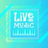 Bandeira de Live Music Concert Poster Festival ilustração stock