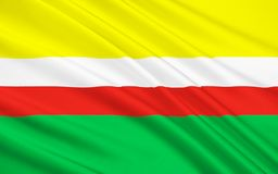 Bandeira de Lubusz Voivodeship no Polônia ocidental foto de stock
