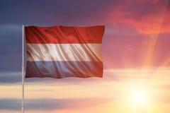 Bandeira de Luxembourg Foto de Stock Royalty Free
