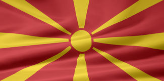 Bandeira de Macedónia Foto de Stock Royalty Free