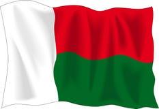 Bandeira de Madagascar Fotos de Stock Royalty Free