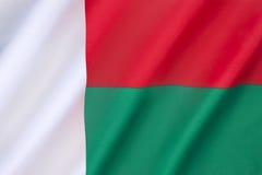 Bandeira de Madagascar Fotos de Stock