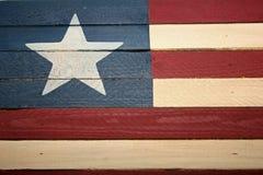 Bandeira de madeira Fotos de Stock Royalty Free