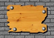 Bandeira de madeira Imagem de Stock