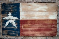 Bandeira de madeira de Texas fotografia de stock