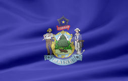 Bandeira de Maine Fotografia de Stock Royalty Free