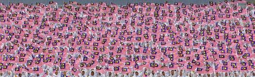 Bandeira de Malásia, Jalur Gemilang Foto de Stock Royalty Free