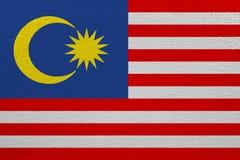 Bandeira de Malásia na lona ilustração do vetor