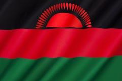 Bandeira de Malawi foto de stock