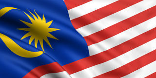 Bandeira de Malaysia Fotografia de Stock