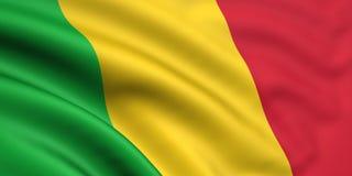 Bandeira de Mali Imagens de Stock Royalty Free