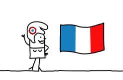 Bandeira de Marianne e de France ilustração do vetor