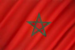 Bandeira de Marrocos Foto de Stock