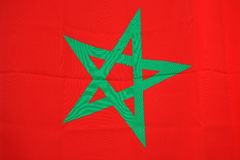 Bandeira de Marrocos Imagem de Stock