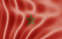 Bandeira de Marrocos Foto de Stock Royalty Free