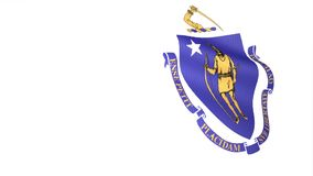 Bandeira de Massachusetts ilustração do vetor