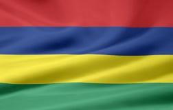 Bandeira de Maurícia Fotos de Stock Royalty Free