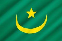 Bandeira de Mauritânia Foto de Stock