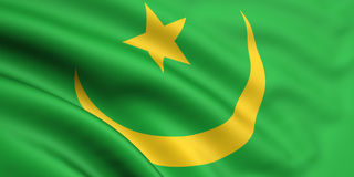 Bandeira de Mauritânia Fotos de Stock