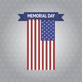 Bandeira de Memorial Day do vetor Fotos de Stock