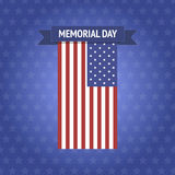 Bandeira de Memorial Day do vetor Imagens de Stock
