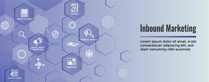 Bandeira de mercado de entrada da Web de Digitas com ícones do vetor com CTA, crescimento, SEO, etc. ilustração do vetor