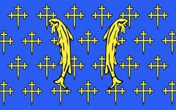Bandeira de Meuse, França imagens de stock royalty free