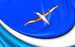 Bandeira de Midway Islands Imagem de Stock Royalty Free