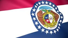 Bandeira de Missouri ilustração do vetor
