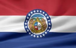 Bandeira de Missouri Imagens de Stock
