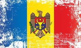 Bandeira de Moldova Pontos sujos enrugados ilustração stock