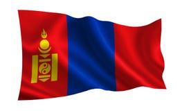 Bandeira de Mongólia Uma série de bandeiras do ` do mundo ` O país - bandeira de Mongólia Imagens de Stock Royalty Free