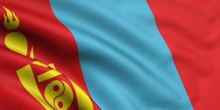 Bandeira de Mongolia Imagem de Stock Royalty Free