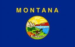 Bandeira de Montana, EUA imagens de stock
