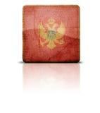 Bandeira de Montenegro Imagens de Stock