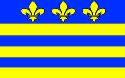 Bandeira de Montreuil, França ilustração royalty free