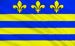 Bandeira de Montreuil, França ilustração stock