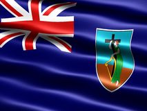 Bandeira de Montserrat ilustração royalty free