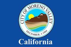 Bandeira de Moreno Valley em Califórnia, Estados Unidos ilustração royalty free