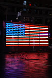 Bandeira de néon do Estados Unidos no Times Square New York Foto de Stock
