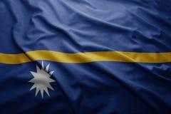 Bandeira de Nauru Fotografia de Stock