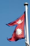 Bandeira de Nepal foto de stock royalty free