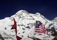 Bandeira de Nepal e de Malásia em ABC fotos de stock