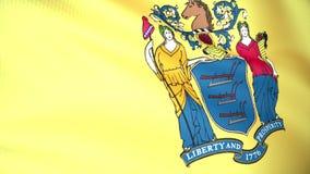 Bandeira de New-jersey ilustração royalty free