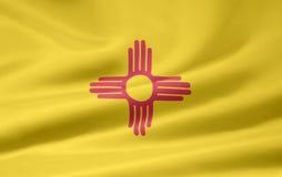 Bandeira de New mexico ilustração royalty free