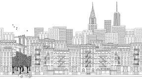 Bandeira de New York City ilustração royalty free