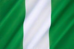 Bandeira de Nigéria fotos de stock royalty free
