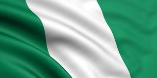 Bandeira de Nigéria Foto de Stock